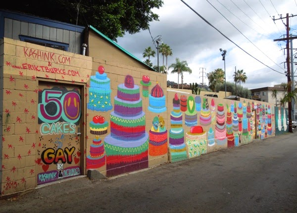 50 cakes of gay marriage wall mural West Hollywood