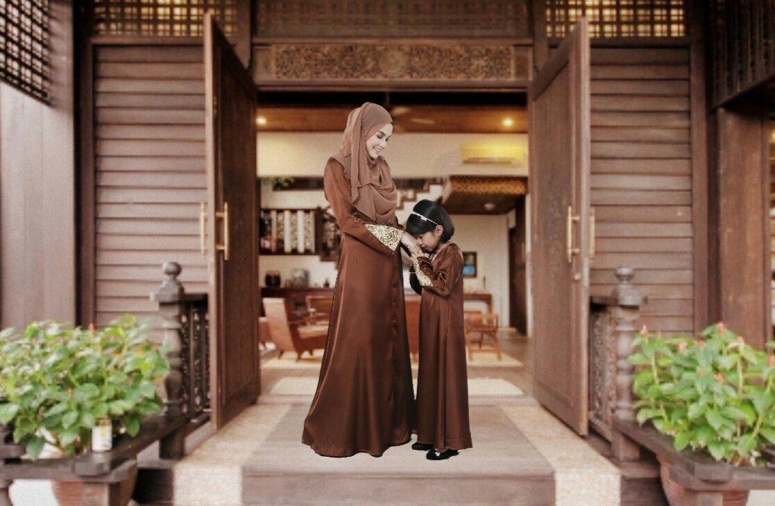 Jom Sedondon Mom & Kid Dengan Jubah Lace Iressa. Nursing & Wuduk friendly Sangat Menawan