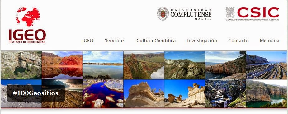 http://www.igeo.ucm-csic.es/cultura-cientifica/100geositios#.U1pIJNYuHSw.twitter