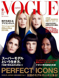 Vogue Japon, portada de super top models.