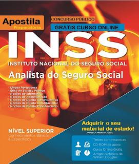 Apostila Impressa INSS 2015 Analista de Seguro Social.
