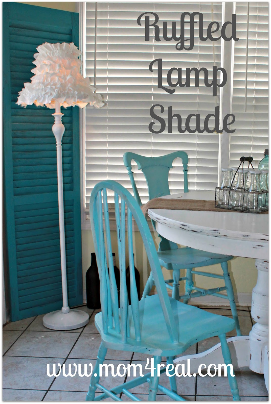 Ruffled lamp shade mom 4 real ruffled lamp shade mozeypictures Gallery