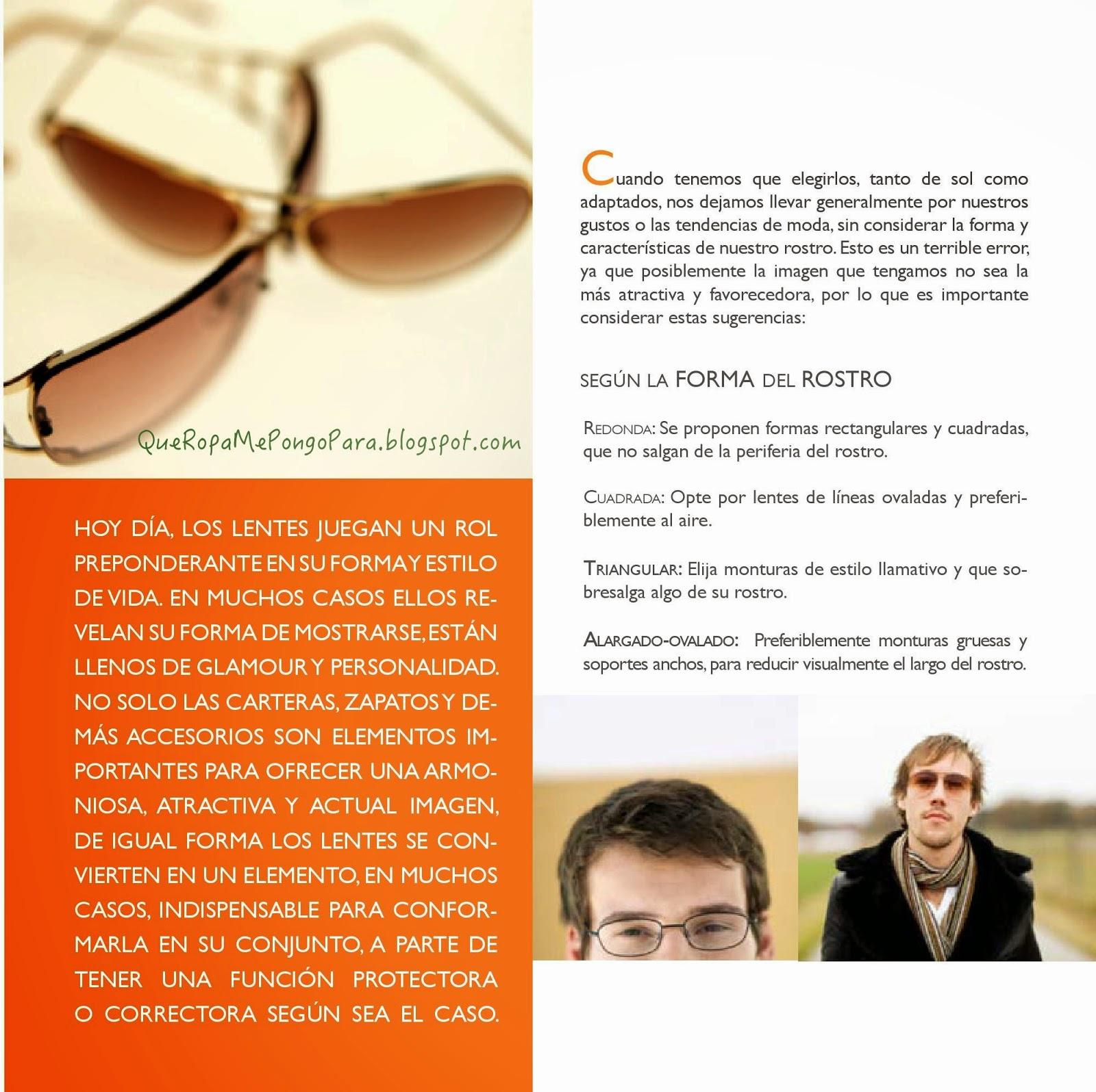 FASHION QUE TIPO DE LENTES SUAR SEGÚN FORMA DEL ROSTRO - Tips para caballeros