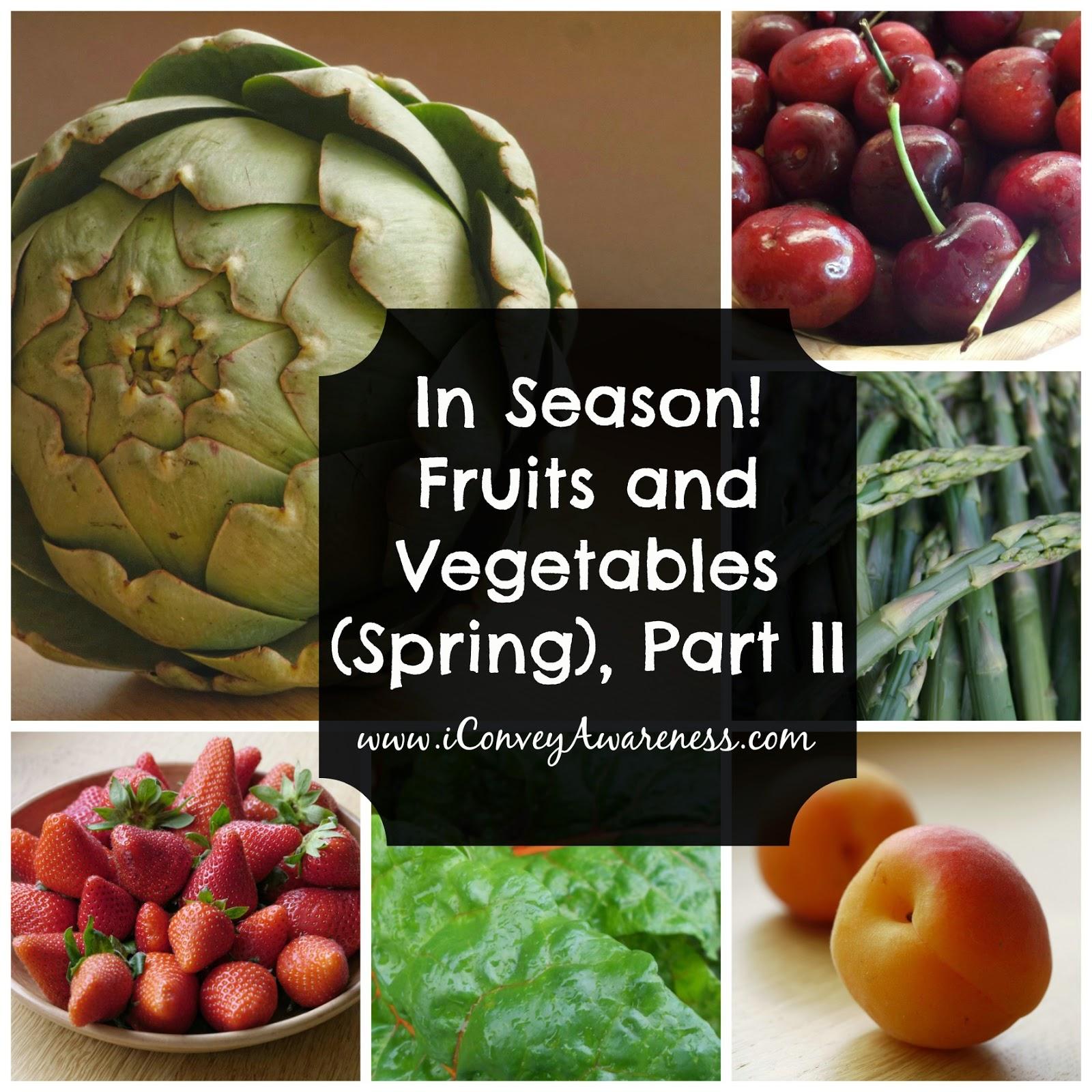 healthy veggies and fruits fruits in season