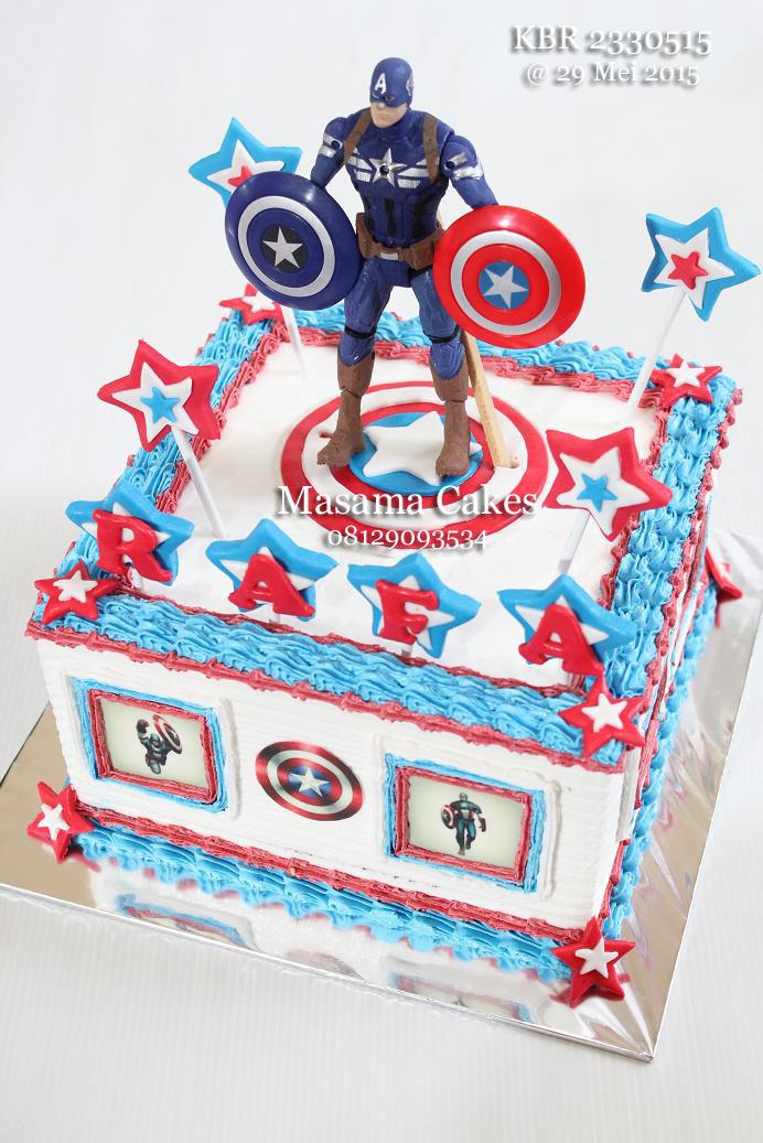 Masama Cakes Captain America Birthday Cake For Rafa