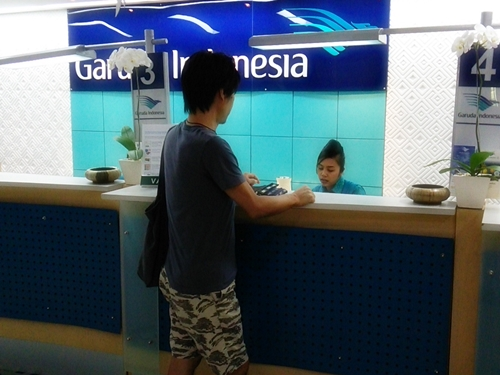 Garuda Indonesia Airlines city check-in