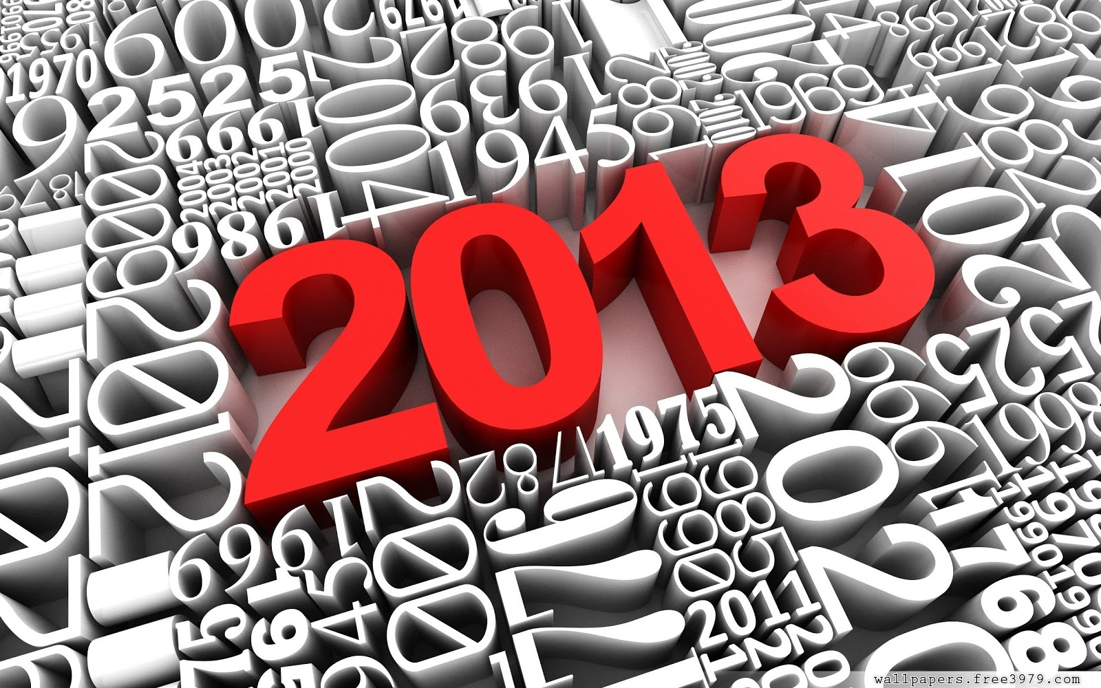 2013 3D Happy New Year Wallpaper HD