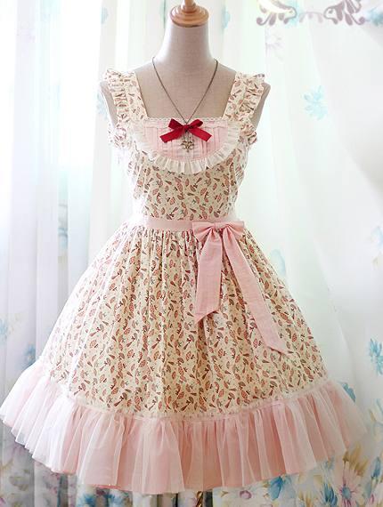 Sweet Parasol Printed Rococo Lolita Dress