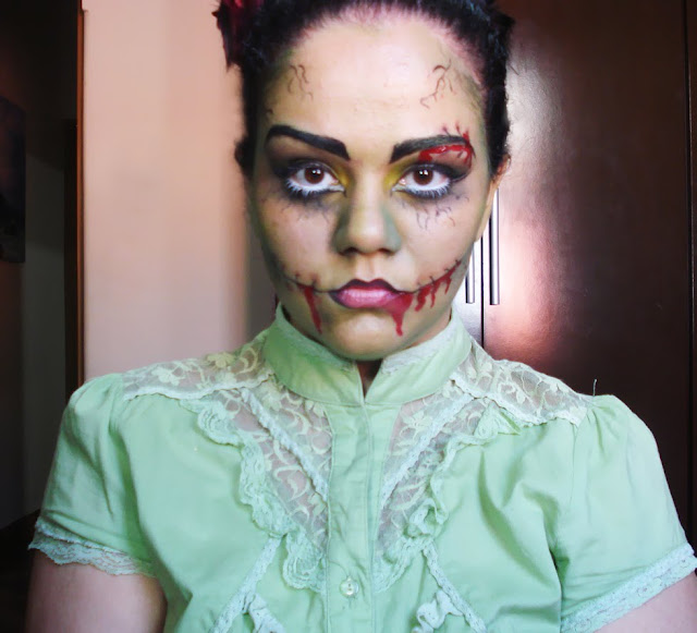 Tutorial Maquiagem halloween, frankenstein, Lady frank,