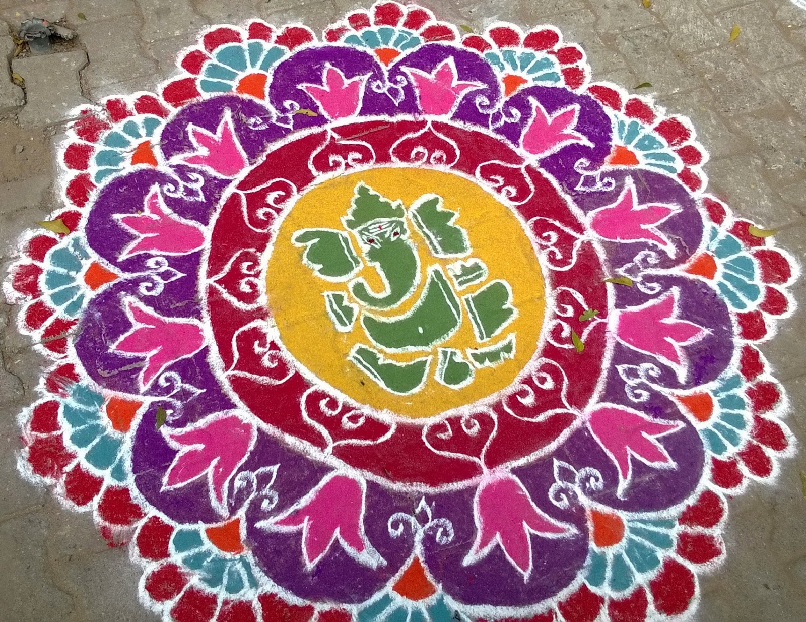 """Following are some of the Kolams drawn on part of the """"Margazhi ..."""