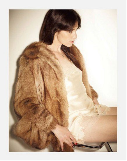 Charlotte Gainsbourg in a fur coat