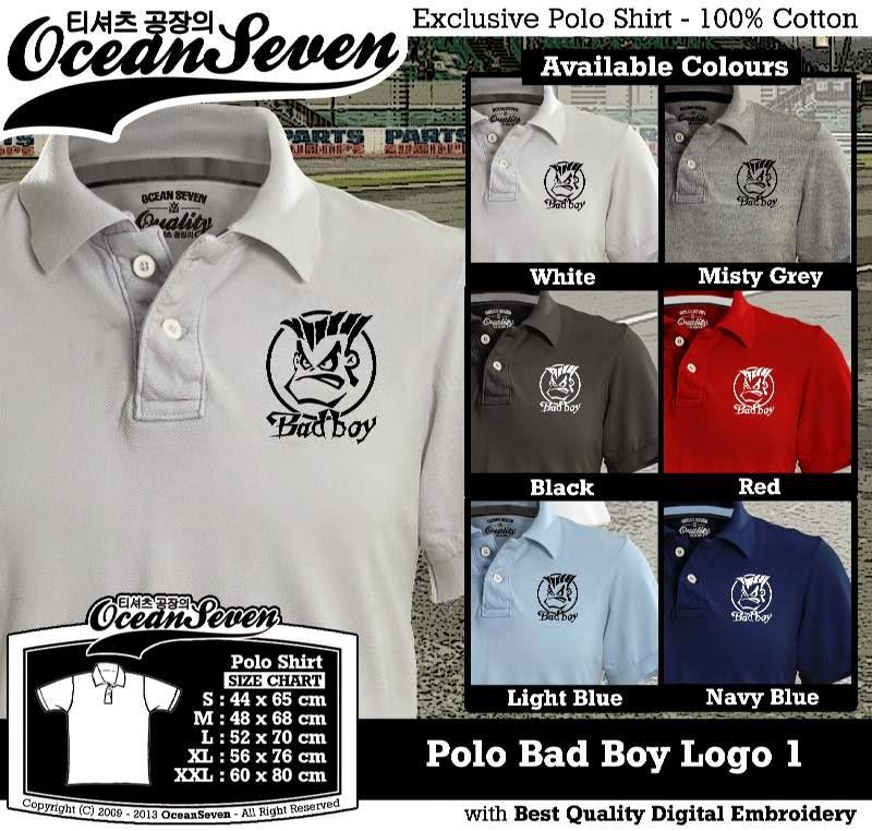 Kaos Polo Bad Boy Logo 1