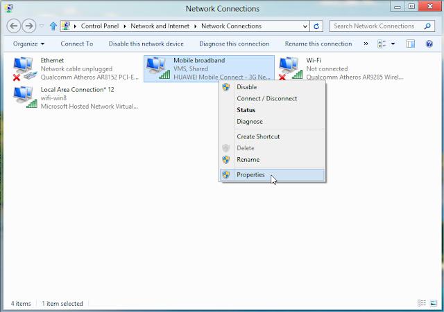 Cách phát Wifi trên Windows 8 không cần phần mềm