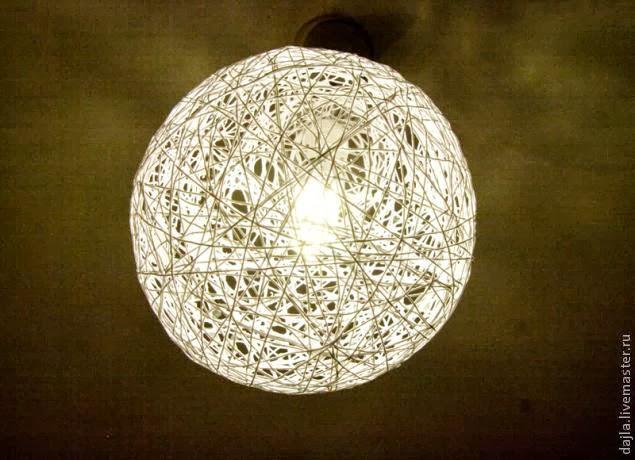 Светильник из пряжи