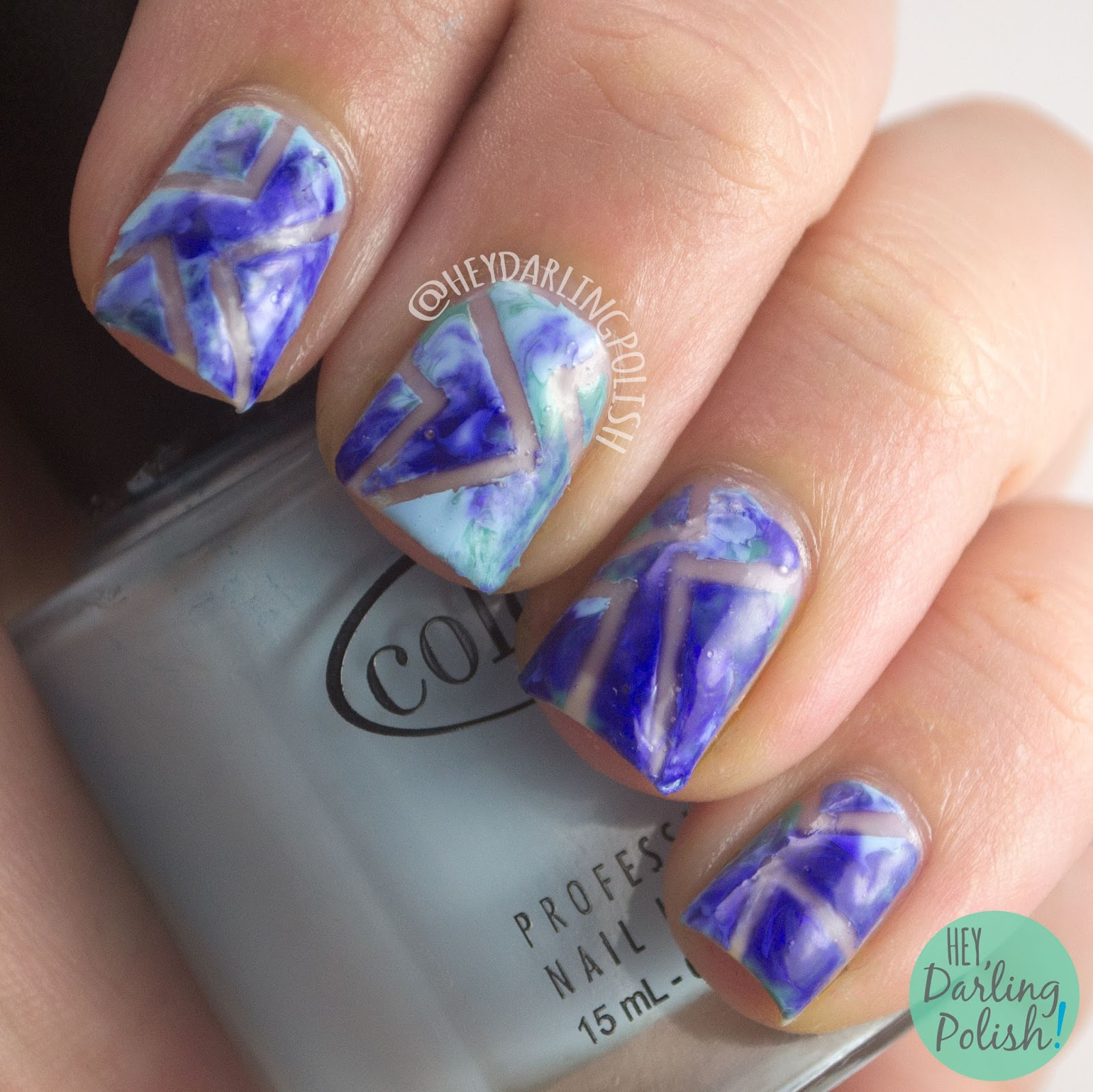 nails, nail art, nail polish, negative space, dry marble, hey darling polish, tape, fingerfood theme buffet, theme buffet