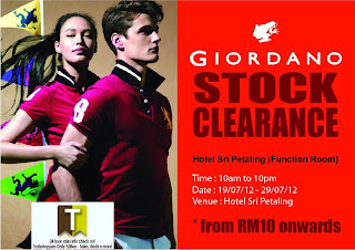 GIORDANO Stock Clearance Sale 2012