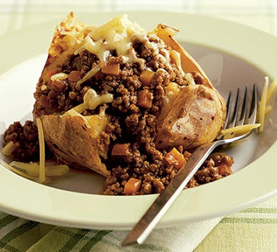 Baked Potato With Cheesy Mince Recipe