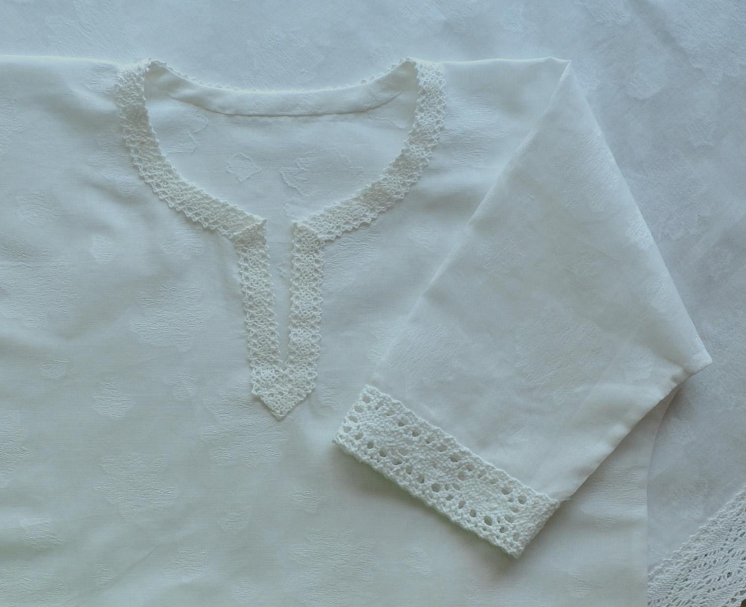 Шьем крестильную рубашку с кружевными вставками Ярмарка Мастеров 42