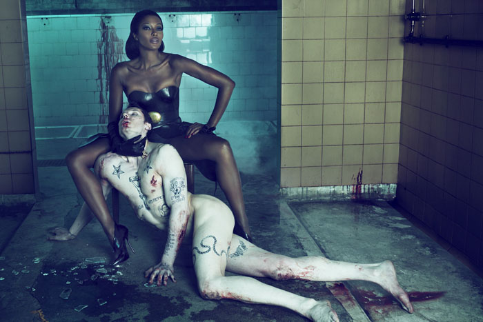 Naomi Campbell for Interview Magazine. Photo credit: Mert and Marcus