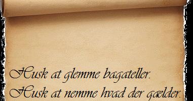 sprødt på engelsk ordsprog på dansk