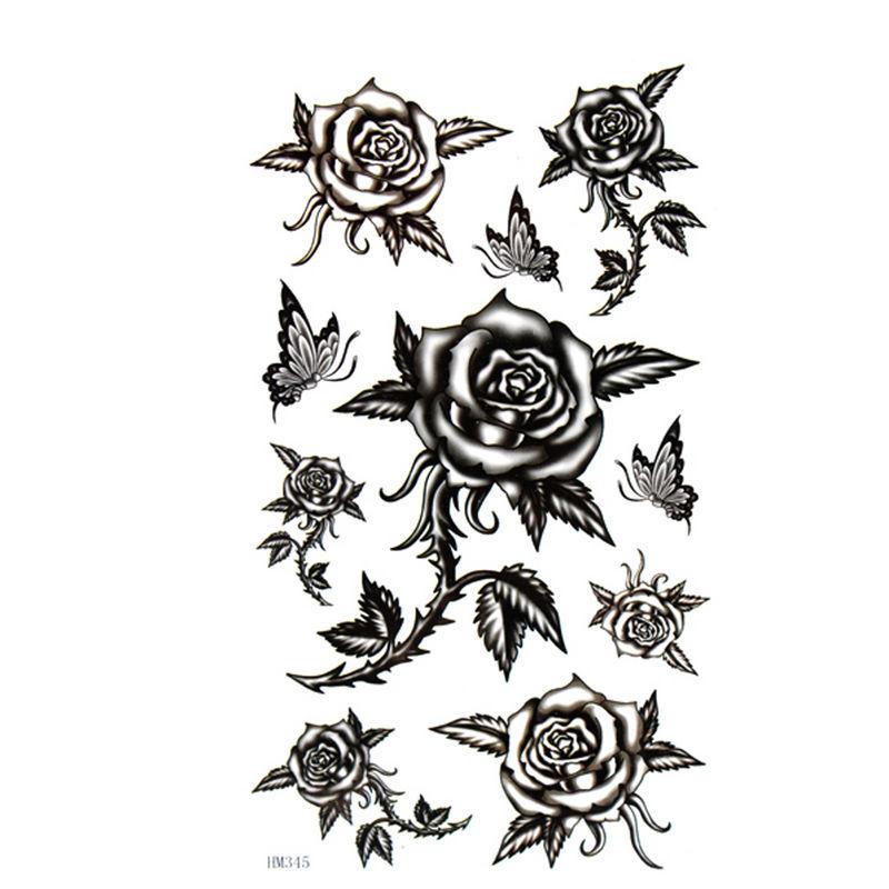 Tatouages De Rose Noire sur Pinterest Tatouages De  - photo tatouage rose noire
