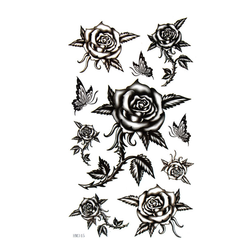 image tatouage rose noire. Black Bedroom Furniture Sets. Home Design Ideas
