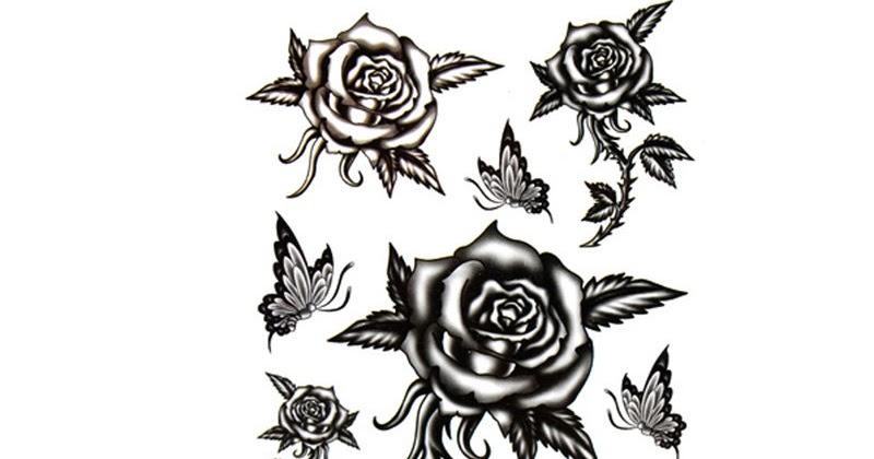 tatouage rose noire signification. Black Bedroom Furniture Sets. Home Design Ideas