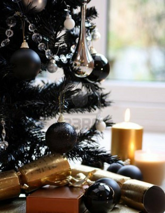 Black ornaments are hard to come by, but you can find some here on ...