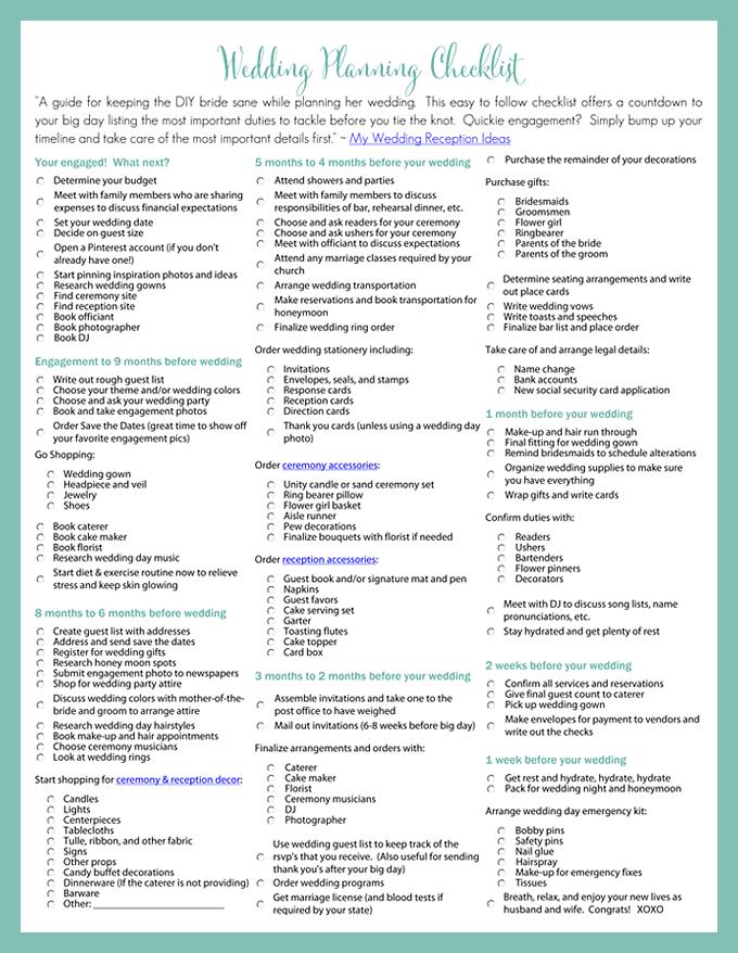 wedding planner: Diy Wedding Planner Checklist