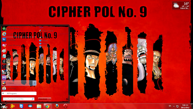 Theme One Piece Cho win 7
