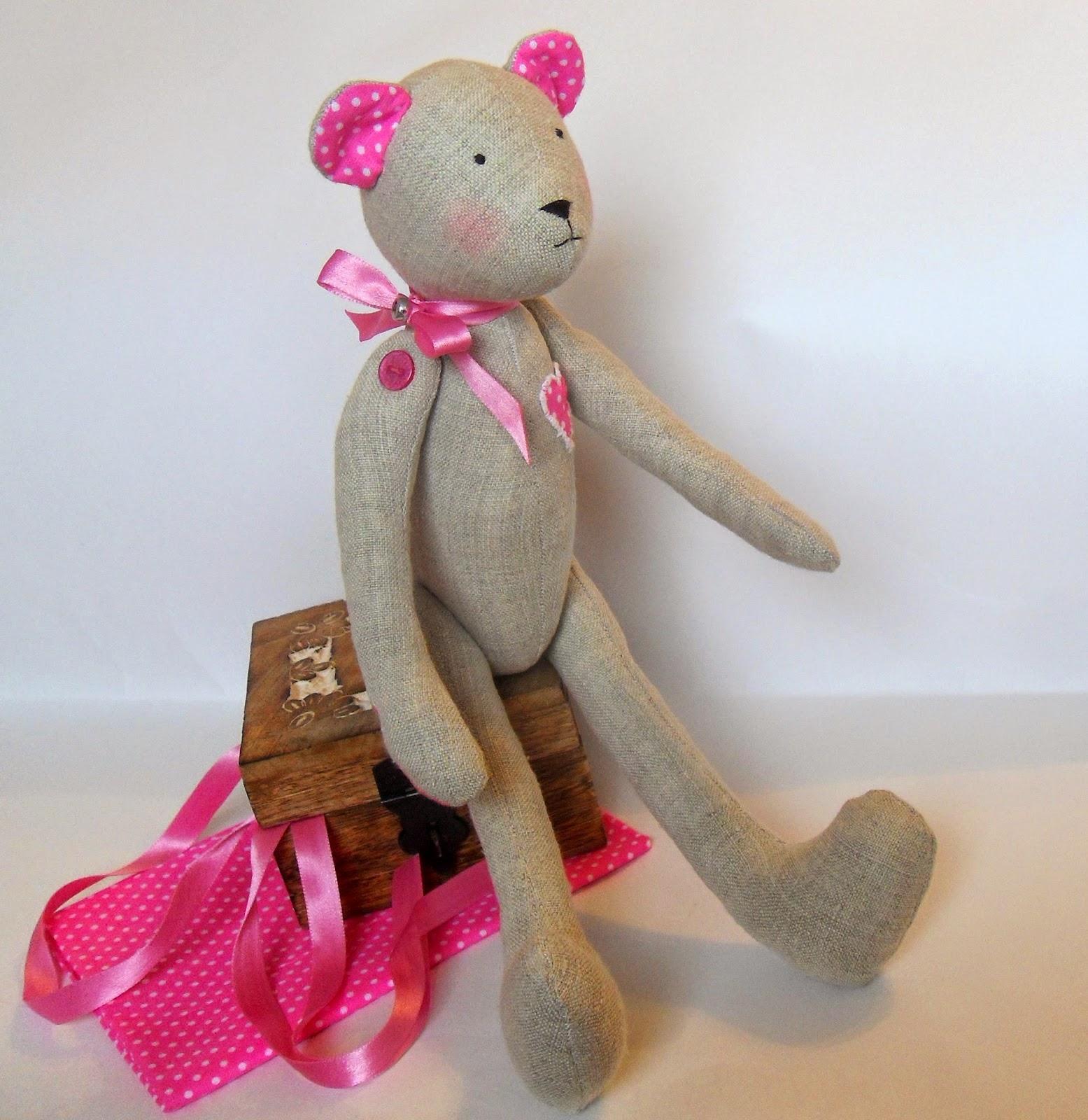 интерьерная игрушка мишка-тильда