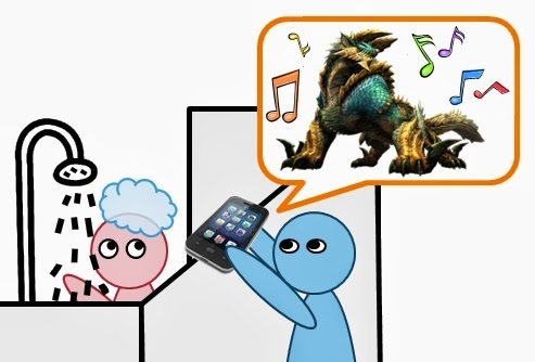 Playing Zinogre music on Youtube