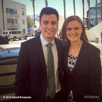 Bones - Season 10 - BTS photo of Emily Deschanel and John Francis Daley - July 24, 2014