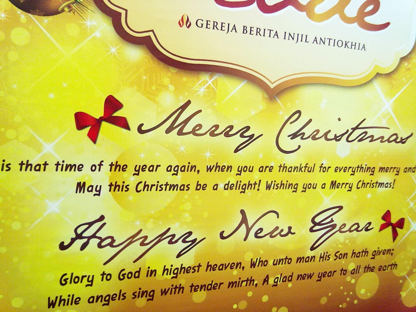 Natal akan selalu membawa damai sejahtera dan sukacita di hatiku