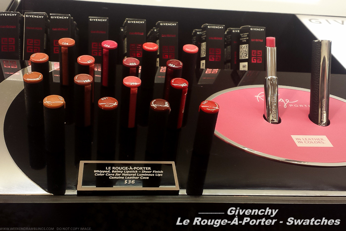 Givenchy Le Rouge-A-Porter Lipsticks - Swatches