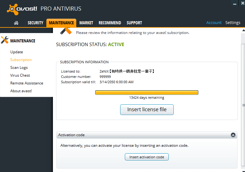 avast pro antivirus license key file