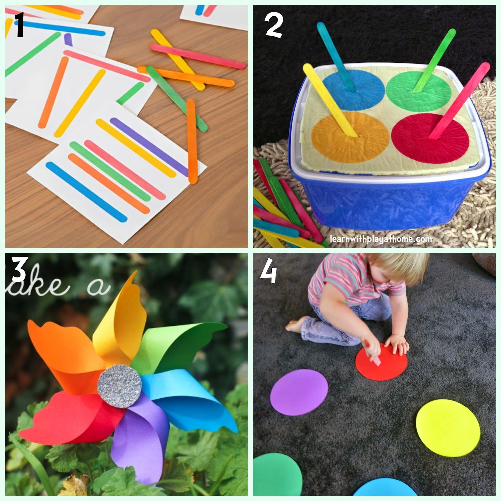 Color Matching Game with free printable from The Connection we ...