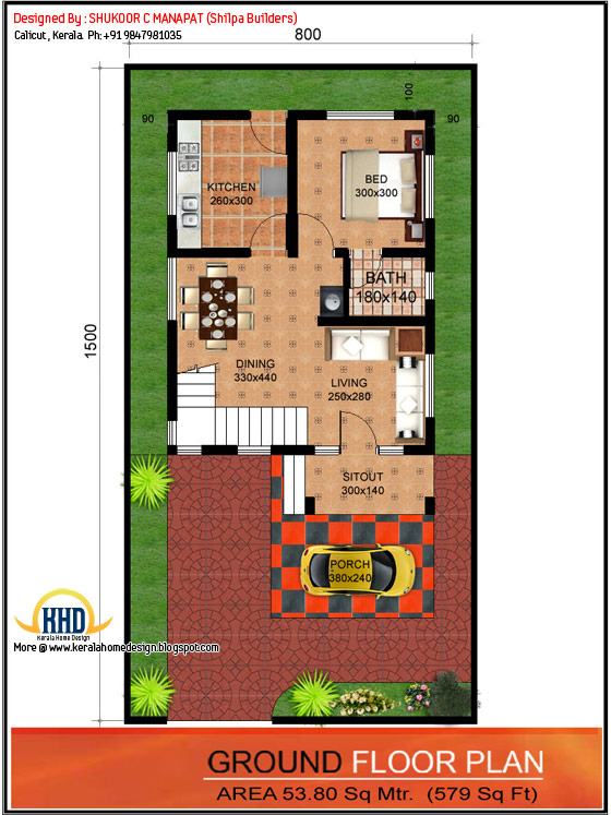 1062 sq ft 3 bedroom low budget house home appliance Ground floor 3 bedroom plans