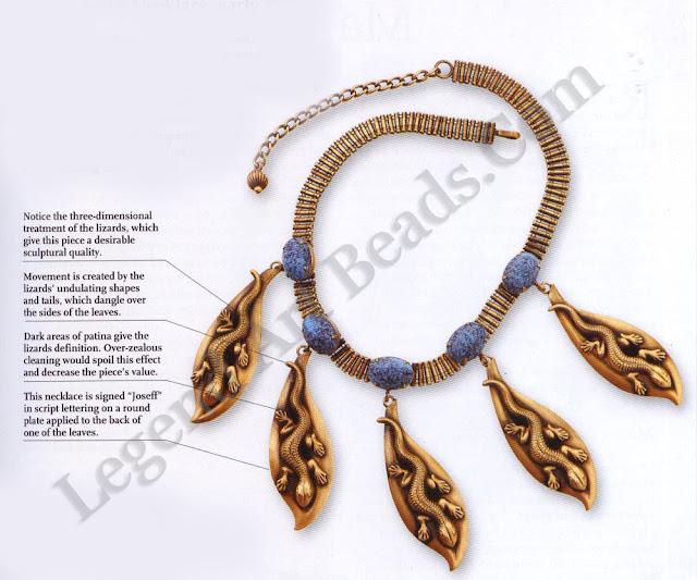 Joseff Lizard Necklace.