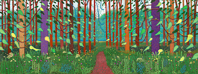 David Hockney, The Arrival of Spring