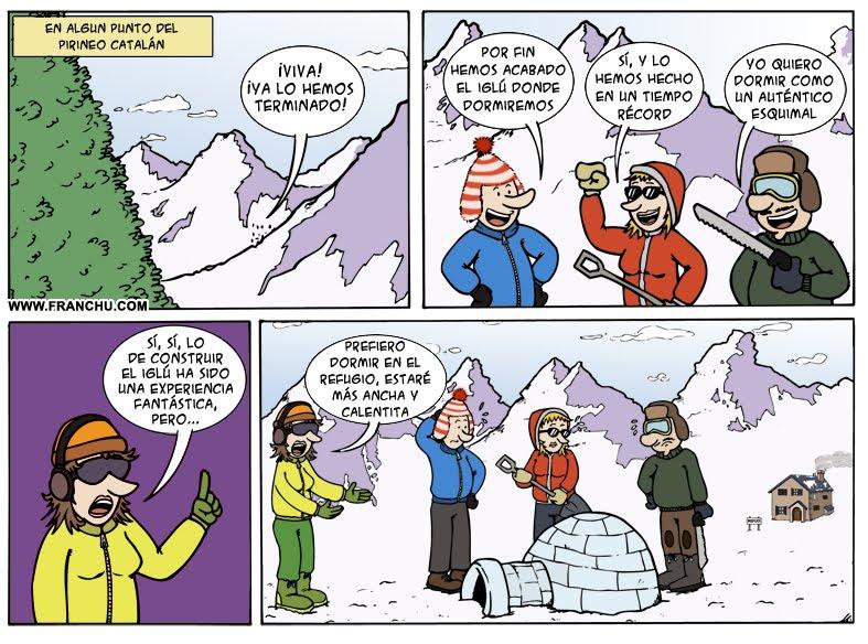 Tira cómica del dibujante Franchu Llopis