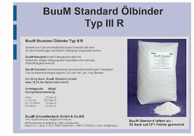 "Absorber za olja in kemikalije ""BuuM Standard  Typ III R"""