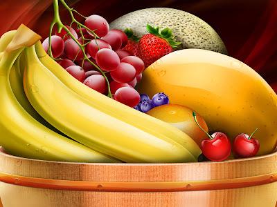 Ricas bananas y mangos para un desayuno saludable