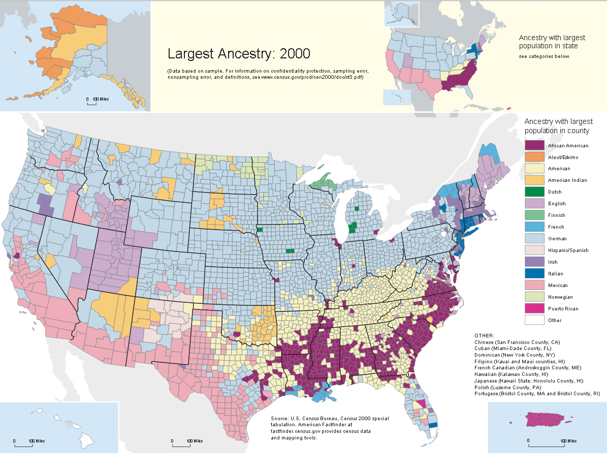 Empires And Generals United States Geopolitical Ancestry Map - Pretty us map