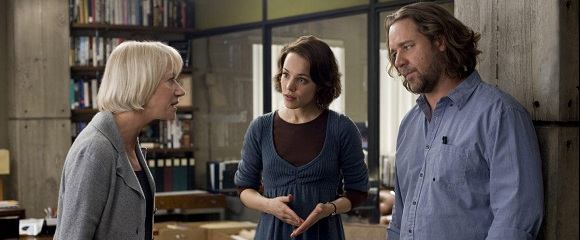 Helen Mirren, Rachel McAdams e Russell Crowe em INTRIGAS DE ESTADO (State of Play)