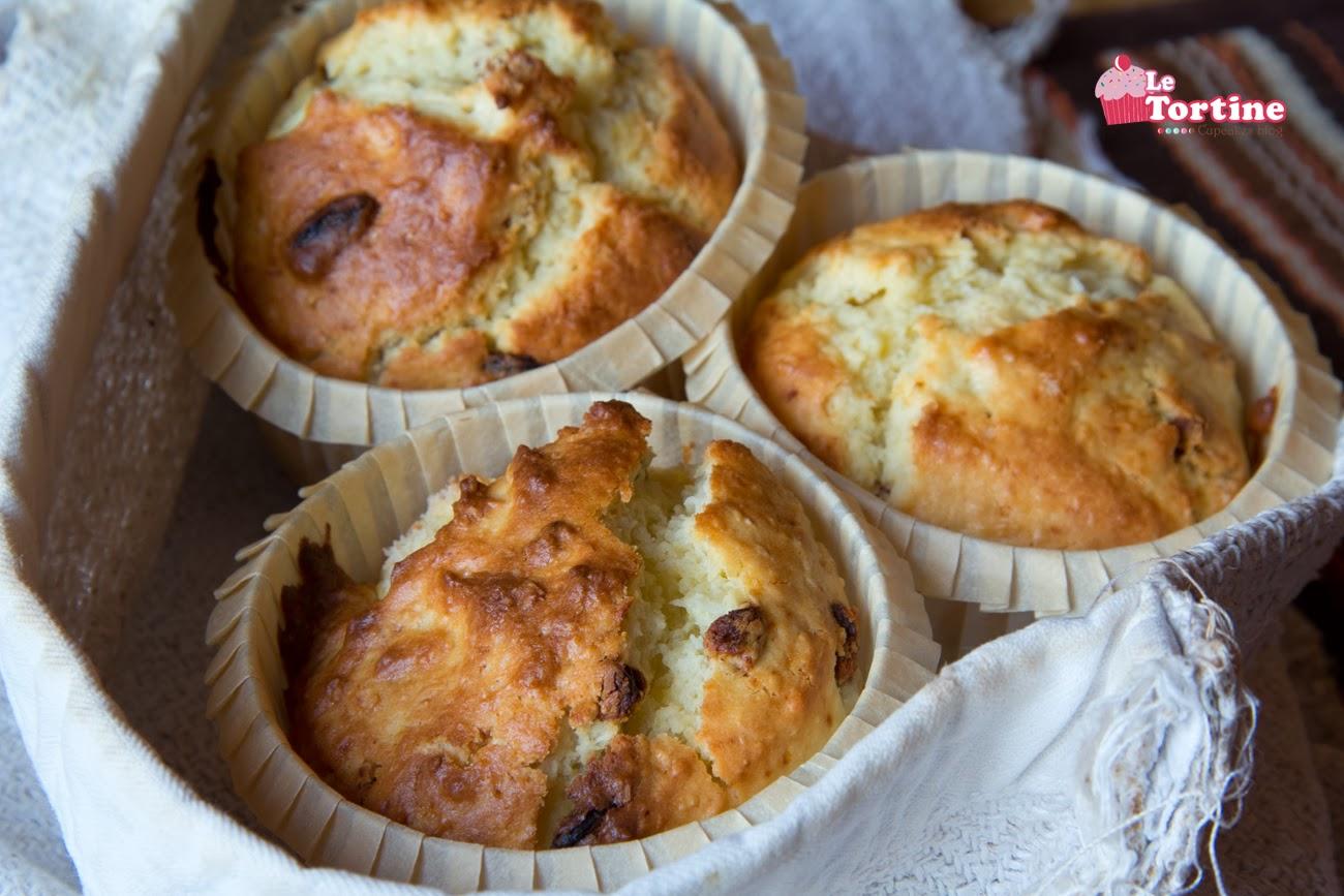 muffin alla ricotta, bacche di goji e cocco