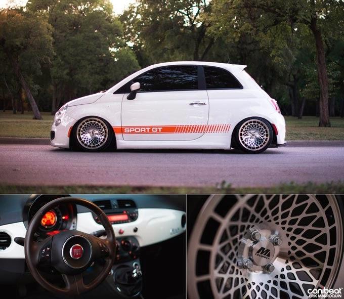 Fiat 500 Rebaixado Branco