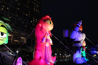 Teen Titans Go! balloons in the evening at SDCC 2013