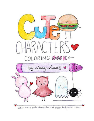 Cute Characters Coloring Book