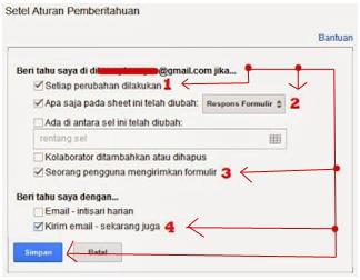 Cara Mengaktifkan Email Notifikasi